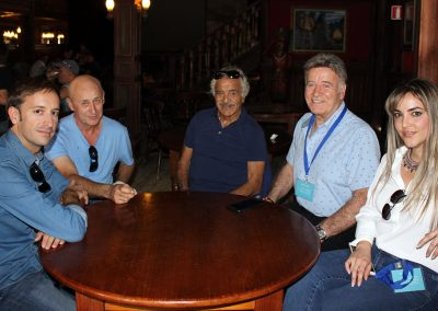 El director de AWFF, Juan Francisco Viruega, el gerente de Oasys MiniHollywood, Jose Maria Rodriguez, los actores Sal Borgese y George Martin y la mujer de este ultimo
