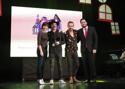 Mejor pelicula Neowestern, Marian Alvarez, Jaime Martin, Alfonso Cortes-Cavanillas, equipo de Sordo y Jose Diaz, alcalde de Tabernas